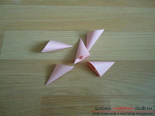 Бесплатные мастер классы по созданию модульных шаров оригами, пошаговые фото и описание.. Фото №9