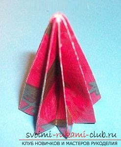 Бесплатные мастер классы по созданию модульных шаров оригами, пошаговые фото и описание.. Фото №35