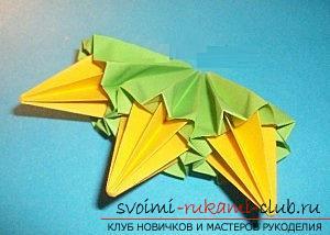 Бесплатные мастер классы по созданию модульных шаров оригами, пошаговые фото и описание.. Фото №39