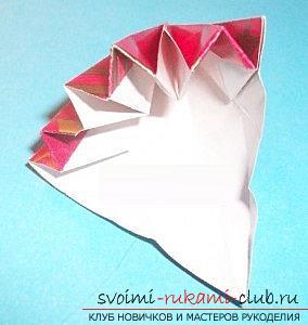 Бесплатные мастер классы по созданию модульных шаров оригами, пошаговые фото и описание.. Фото №31