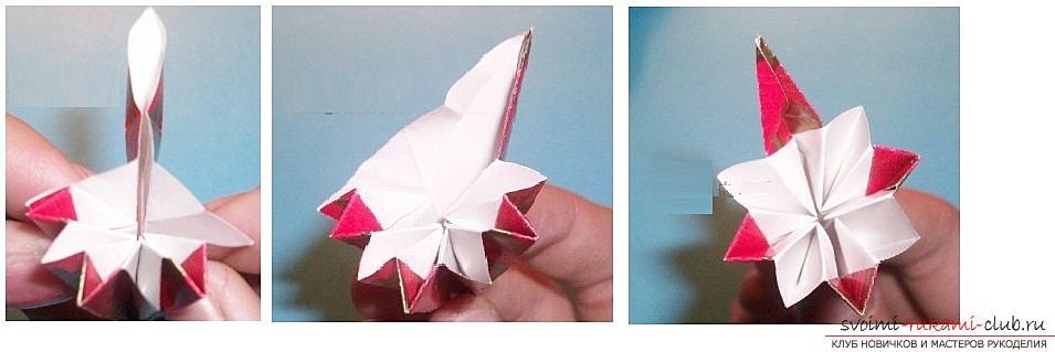 Бесплатные мастер классы по созданию модульных шаров оригами, пошаговые фото и описание.. Фото №32
