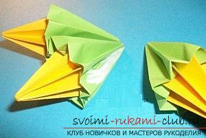 Бесплатные мастер классы по созданию модульных шаров оригами, пошаговые фото и описание.. Фото №38