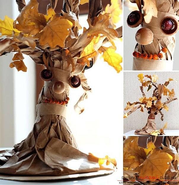 Как сделать дерево своими руками из природного материала