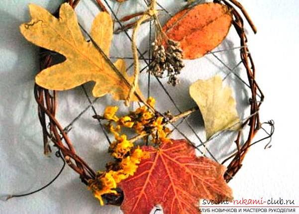 Поделки своими руками из природного материала осенью