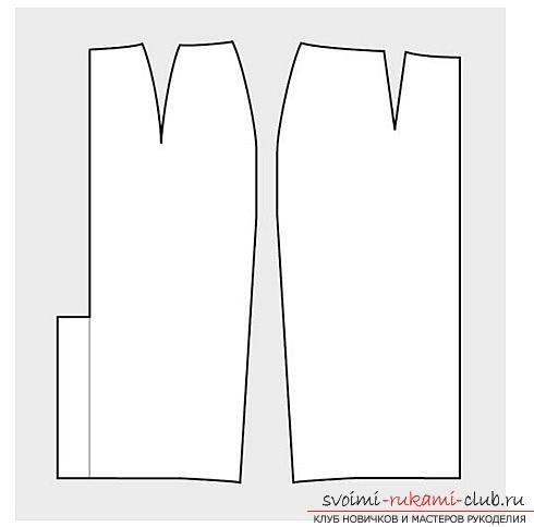 Выкройка юбки-карандаш быстро