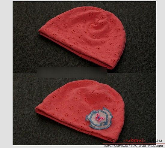 Выкройка варианта весенне-осенней шапочки своими руками - шапочка для ребенка. Фото №2