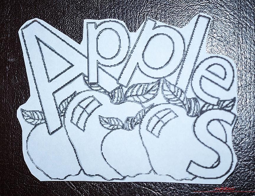 """Выжигание по дереву, рисунки """"яблочки"""" для декорирования разделочной доски своими руками.. Фото №3"""