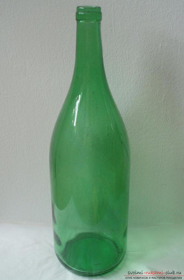 Оплетаем газетными трубочками бутылку или сосуд своими руками с фото. Фото №31