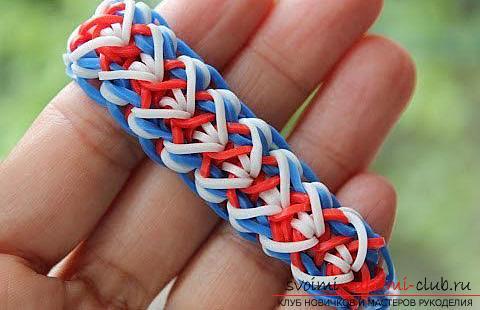 Учимся плести яркие фенечки и браслеты из резиночек своими руками. Фото №7