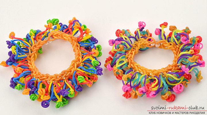 Яркие интересные фенечки и браслеты из разноцветных резиночек своими руками с фото и схемами.