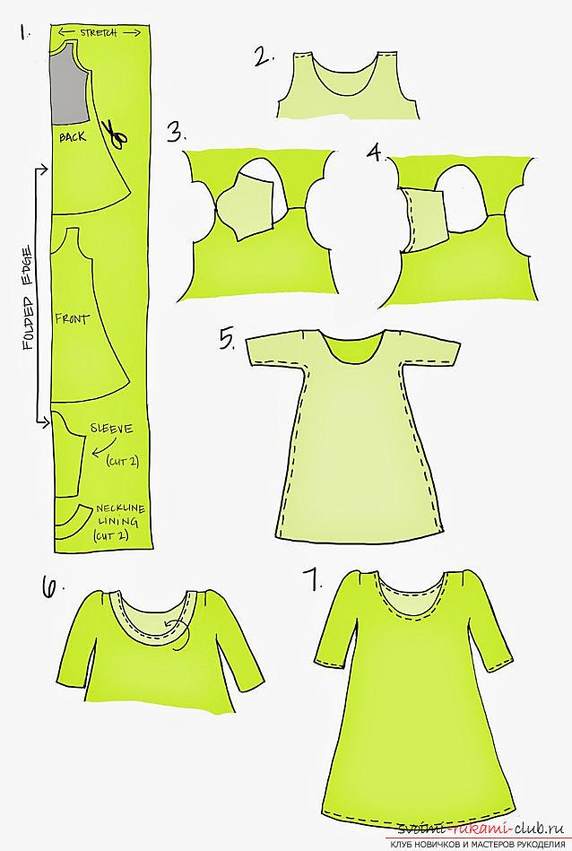 Быстро создать свободное платье своими руками. Фото №2