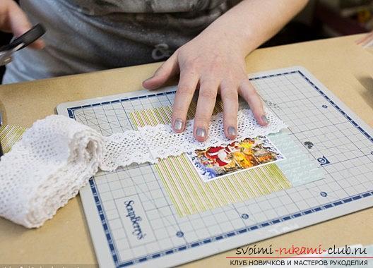 Идея открытки скрапбукинг для нового года - домашний скрапбукинг своими руками. Фото №3