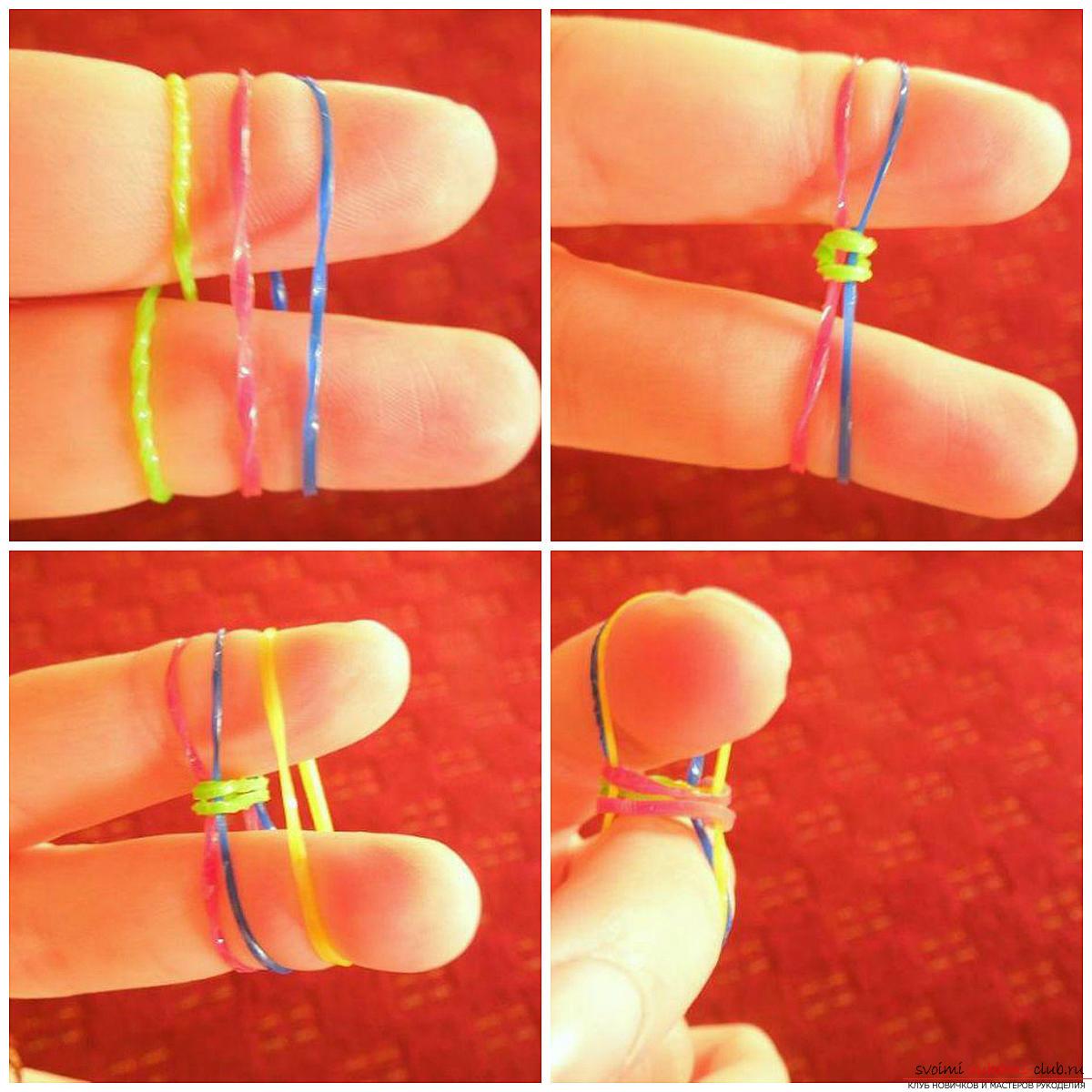 Как сплести браслет из резиночек своими руками