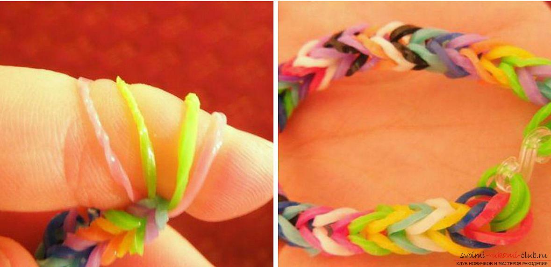 Как сделать браслет из резинок своими руками фото
