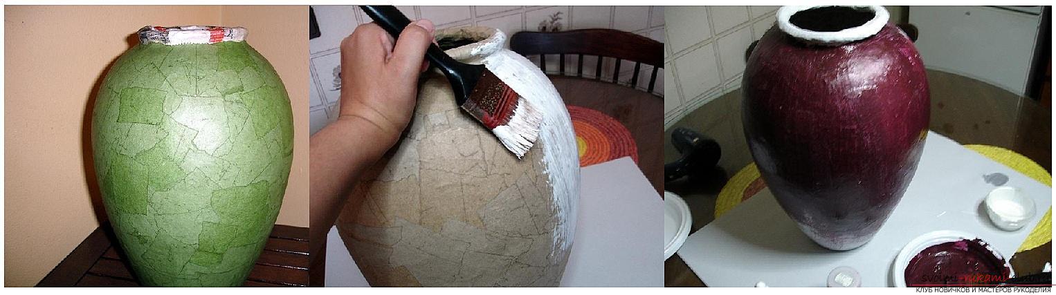 Как сделать из папье маше в разных техниках предметы декора интерьера: вазы, тарелку и рамку для фото, маску в венецианском стиле для вечеринок, пошаговые фото и подробное описание работы. Фото №4