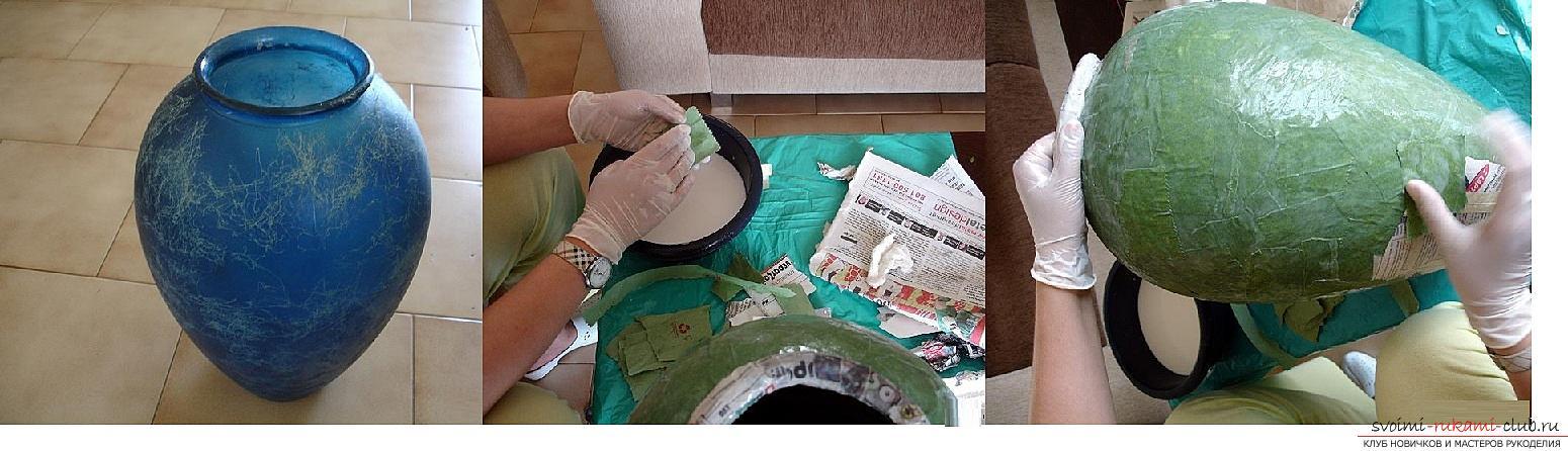 Как сделать из папье маше в разных техниках предметы декора интерьера: вазы, тарелку и рамку для фото, маску в венецианском стиле для вечеринок, пошаговые фото и подробное описание работы. Фото №2