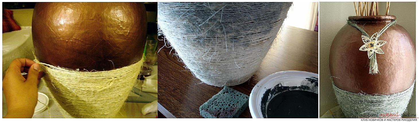 Как сделать из папье маше в разных техниках предметы декора интерьера: вазы, тарелку и рамку для фото, маску в венецианском стиле для вечеринок, пошаговые фото и подробное описание работы. Фото №5