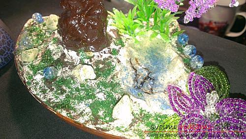 Как сплести глицинию из бисера, пошаговые фото и описание плетения японской и китайской глицинии в петельной технике, советы по декору поделки. Фото №11