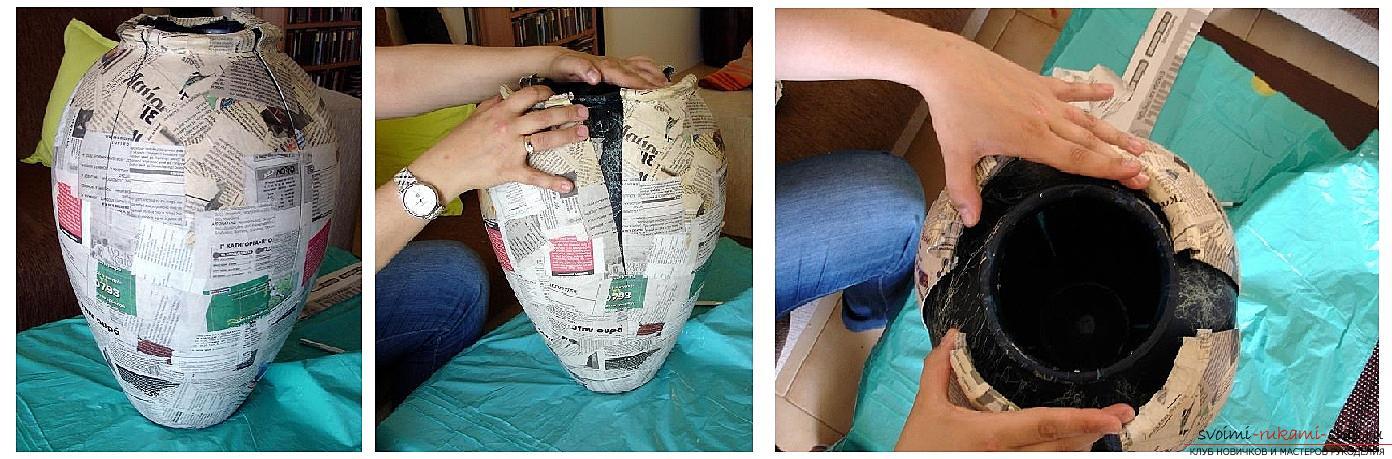 Как сделать из папье маше в разных техниках предметы декора интерьера: вазы, тарелку и рамку для фото, маску в венецианском стиле для вечеринок, пошаговые фото и подробное описание работы. Фото №3