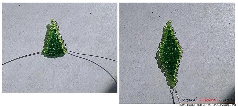 Как сплести глицинию из бисера, пошаговые фото и описание плетения японской и китайской глицинии в петельной технике, советы по декору поделки. Фото №6