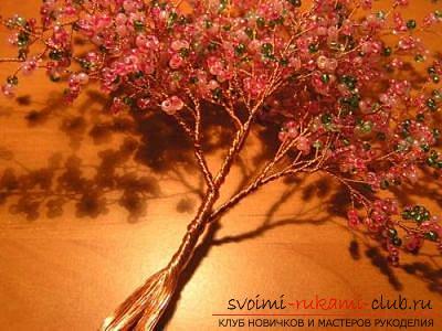 Как сплести сакуру из бисера, подробные мастер классы с пошаговыми фото и описанием.. Фото №40
