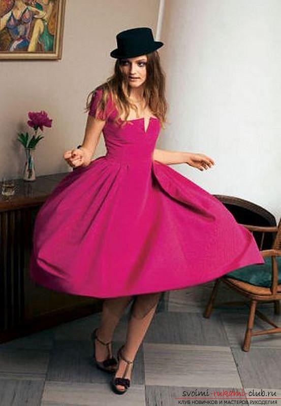 Новые и оригинальные идеи по выкройке модного платья с пышной юбкой