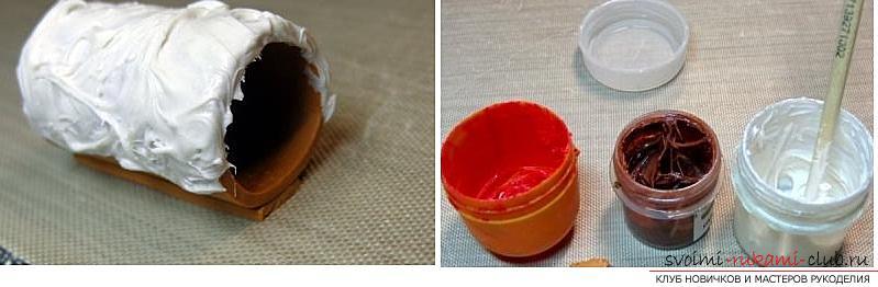 Как украсить бокалы полимерной глиной и как сделать кольца для салфеток из термопластики.. Фото №32