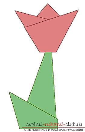 Создание <strong>выкройка из бумаги с детьми</strong> поделок из бумаги своим руками в технике оригами для детей 5 лет.. Фото №1