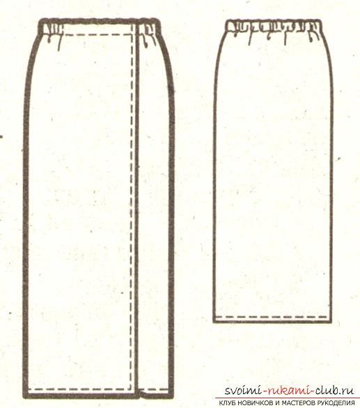 Стильная летняя юбка для полной женщины своими руками. Фото №3