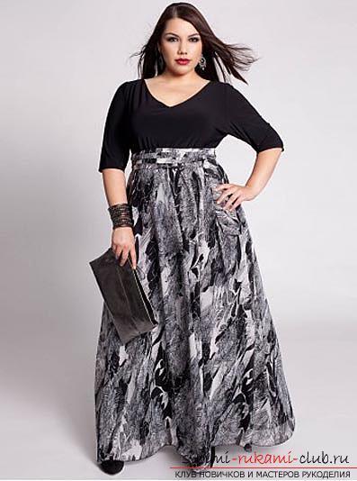 Стильная летняя юбка для полной женщины своими руками. Фото №1