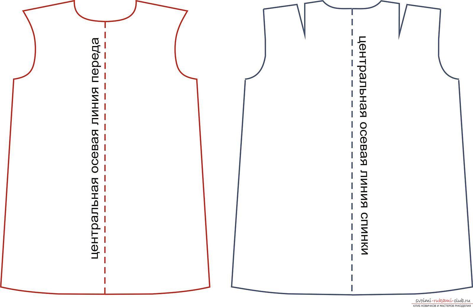 фотоинструкция для выкройки платья. Фото №3