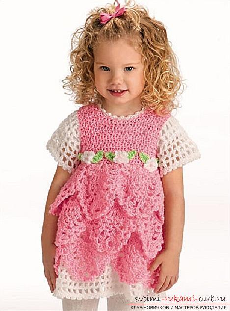 Как связать платье своими руками крючком для девочек разного возраста, схемы описание и фото.. Фото №8