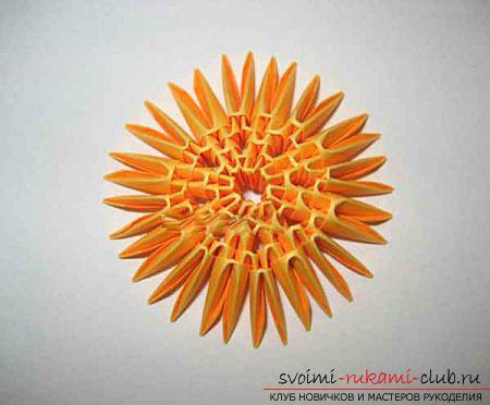 Как сделать сувенир с пасхальной тематикой в технике модульного оригами, пошаговые фото и описание создания пасхального яйца. Фото №35