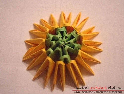 Как сделать сувенир с пасхальной тематикой в технике модульного оригами, пошаговые фото и описание создания пасхального яйца. Фото №5