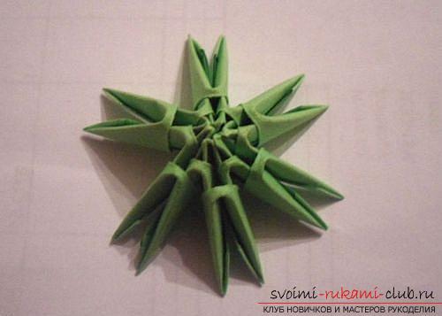 Как сделать сувенир с пасхальной тематикой в технике модульного оригами, пошаговые фото и описание создания пасхального яйца. Фото №4