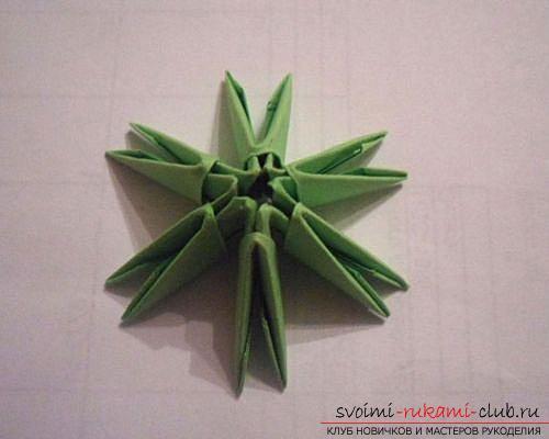 Как сделать сувенир с пасхальной тематикой в технике модульного оригами, пошаговые фото и описание создания пасхального яйца. Фото №3