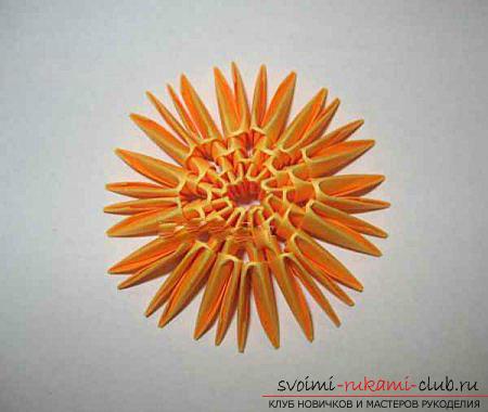 Как сделать сувенир с пасхальной тематикой в технике модульного оригами, пошаговые фото и описание создания пасхального яйца. Фото №34