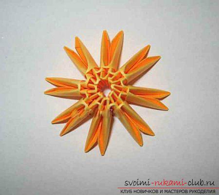 Как сделать сувенир с пасхальной тематикой в технике модульного оригами, пошаговые фото и описание создания пасхального яйца. Фото №33