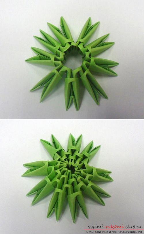 Как сделать сувенир с пасхальной тематикой в технике модульного оригами, пошаговые фото и описание создания пасхального яйца. Фото №24