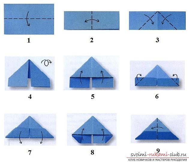 184Поэтапная сборка оригами