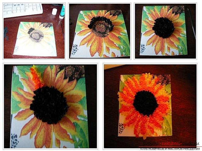 Как сделать плоскую и объемную аппликацию из цветной бумаги, различные виды аппликаций и пошаговые фото создания поделок. Фото №18
