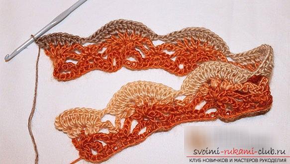 Уроки вязания крючком шарфа снуд - схемы вязания для начинающих мастеров. Фото №7