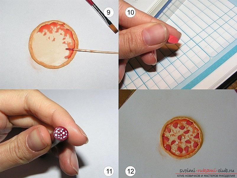 Лепка из полимерной глинны пиццы - техники работы с полимерной глиной и мастер-класс