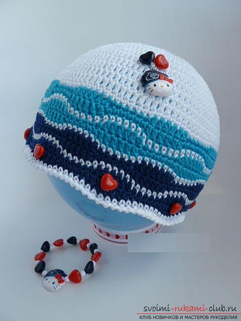 Как связать летние красивые шапочки и панамки крючком для девочек и мальчиков, схемы, описание и фото. Фото №10