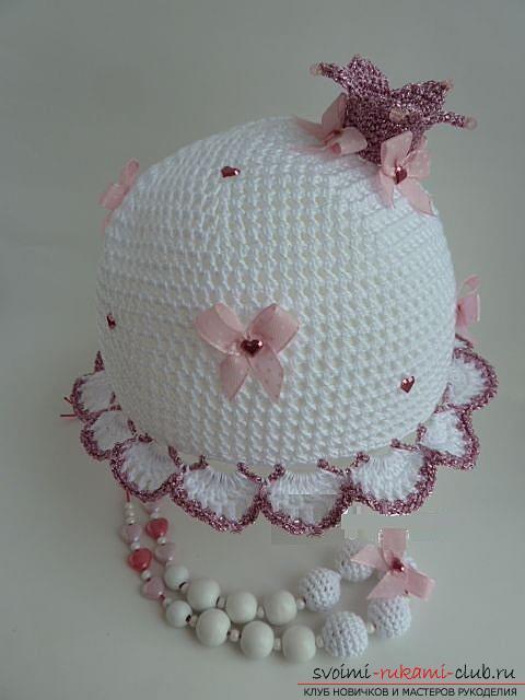 Как связать летние красивые шапочки и панамки крючком для девочек и мальчиков, схемы, описание и фото. Фото №9