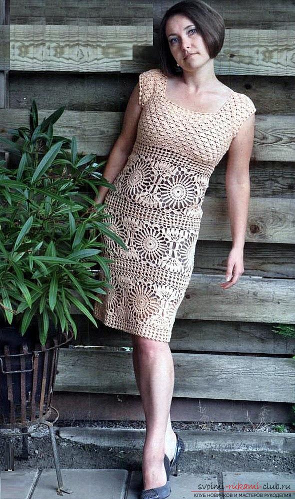Платье крючком подробное описание с фото