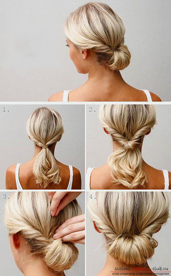Простая и красивая прическа на средние волосы