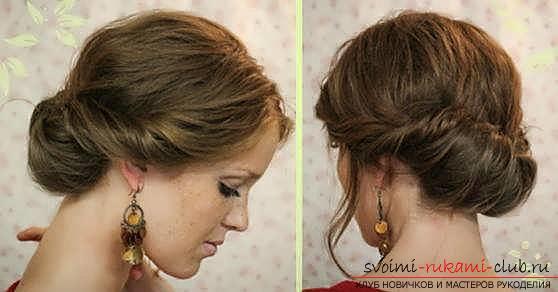 Как собрать волосы средней длины в домашних условиях фото