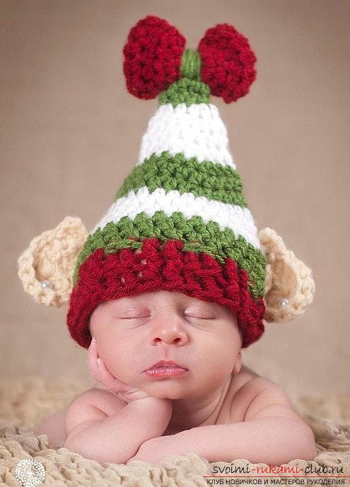 вязание крючком шапочки с ушками для новорожденных схемы Prakard