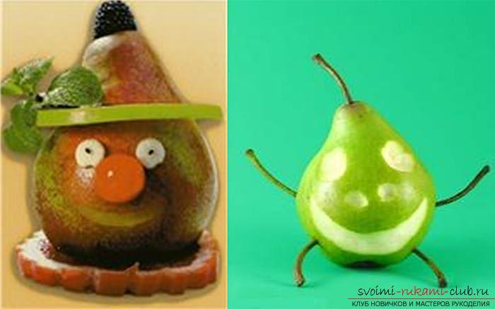 Поделки из фрукт и овощей своими руками